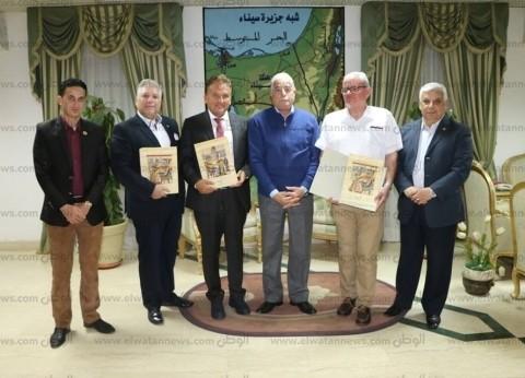 محافظ جنوب سيناء يستقبل وفد اتحاد التآخي بين المدن السياحية بشرم الشيخ