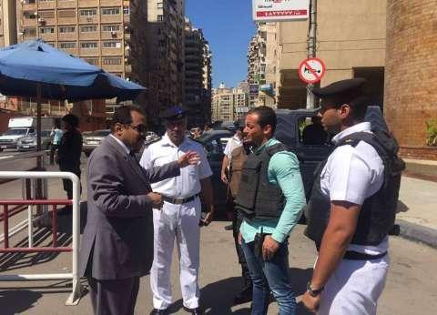 مدير أمن الإسكندرية يتفقد الخدمات المرورية في المحافظة