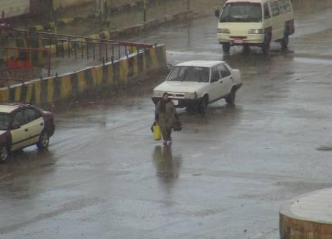 سقوط أمطار غزيرة بقرى ومدن شمال سيناء