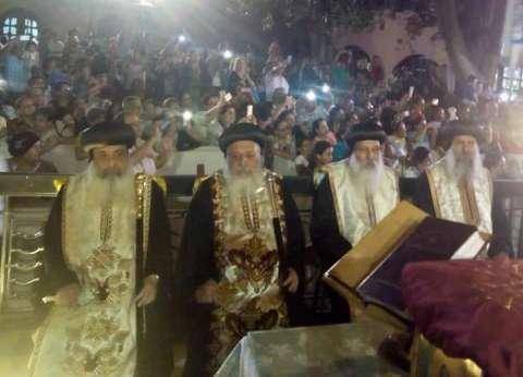 بدء احتفالية الكنيسة بدخول العائلة المقدسة مصر على أنغام النشيد الوطني