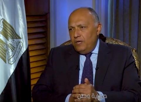 """شكري: """"مهاجمو مصر يريدون زعزعة أمنها.. والمصريون ملتزمون بما حققوه"""""""