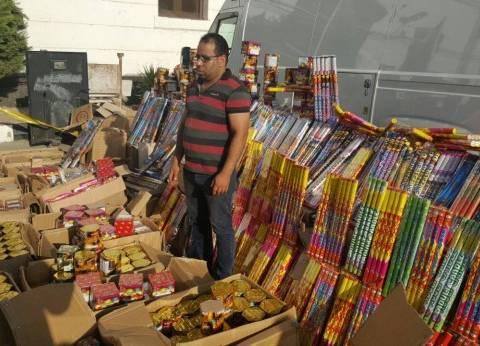 ضبط 7500 صاروخ ألعاب نارية مجهولة المصدر بحوزة تاجر في الإسكندرية
