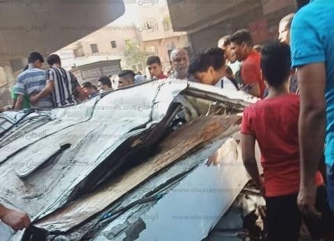 عاجل.. مصرع 5 وإصابة 2 إثر سقوط ميكروباص من كوبري صفط اللبن