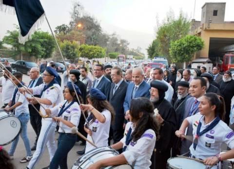 محافظ القليوبية يشهد حفل عيد رسامة الأنبا مرقس أسقف شبرا الخيمة