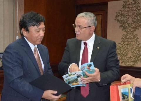 محافظ المنيا يبحث مع السفير الياباني سبل التعاون في مجال التعليم والاستثمار