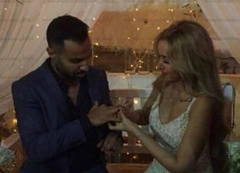 بالصور| بدء حفل خطوبة أحمد فهمي وهنا الزاهد