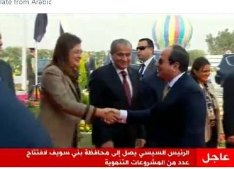 """السيسي يفتتح ازدواج طريق """"سوهاج - قنا"""" الصحراوي الغربي"""