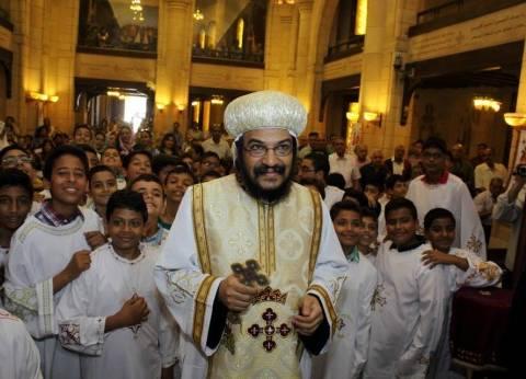 الأنبا بافلي يرأس قداس القيامة بكاتدرائية الإسكندرية