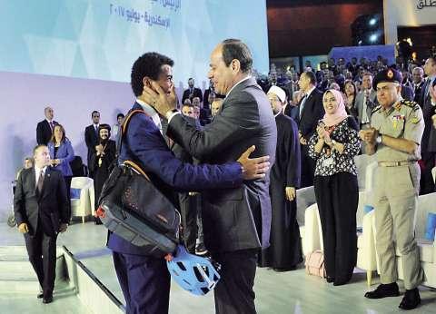الرئيس فى مؤتمر الشباب: الحوار سبيلنا لبناء الوطن.. ويا نكافح ونوصل.. يا نمد إيدينا