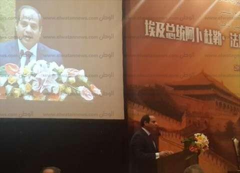 السيسي: مصر ملتزمة بتنفيذ اتفاقاتها مع الشركات الصينية