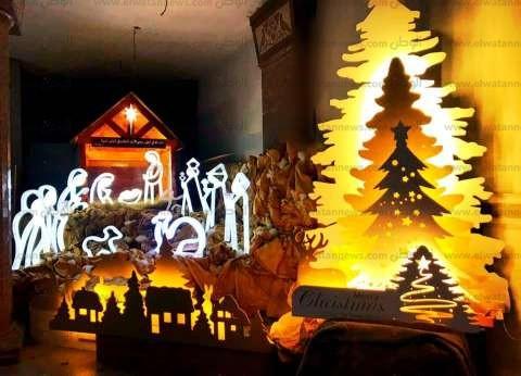 """""""المزود الإلكتروني"""" أحدث ابتكارات """"عيد الميلاد"""" في كنيسة بالإسكندرية"""