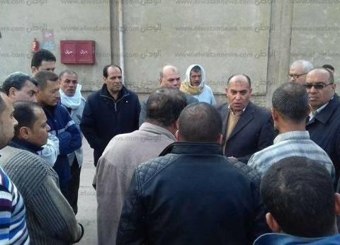 """رئيس مدينة سمنود يبحث أزمة حافز عمال """"وبريات"""""""