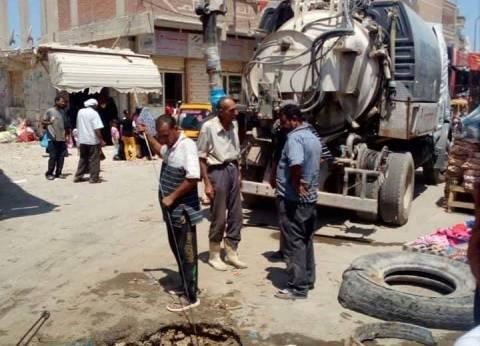 انتشار سيارات الشفط بشوارع الإسكندرية لإزالة رواسب الذبح
