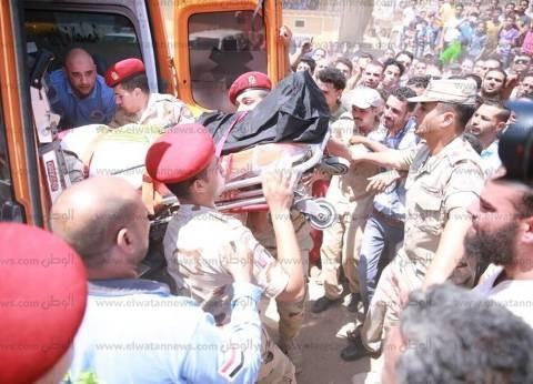 مظاهرة وزغاريد بجنازة شهيد سيناء بمسقط رأسه في كفر الشيخ