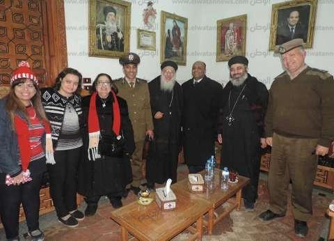 بالصور| مدير أمن الغربية في زيارة للكنائس للتهنئة بأعياد الميلاد