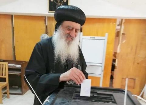 مطران طنطا يُدلي بصوته في الاستفتاء على تعديل الدستور