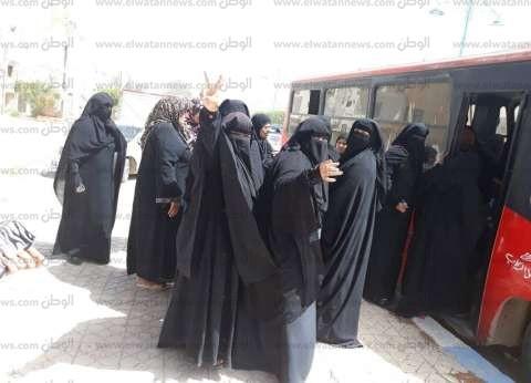 بالصور| أتوبيسات مجانية تنقل الناخبات من مطروح للإدلاء بأصواتهن