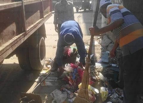 حملة لرفع الأتربة والقمامة من شوارع قلين في كفر الشيخ