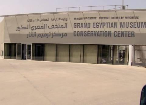 """""""محلب"""" يتفقد مشروع تطوير هضبة أهرامات الجيزة والمتحف المصري الكبير"""