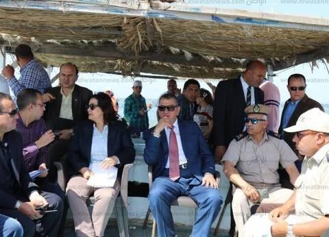 بالصور| نصر ومحرز يتفقدان إزالة التعديات في بحيرة البرلس بكفر الشيخ