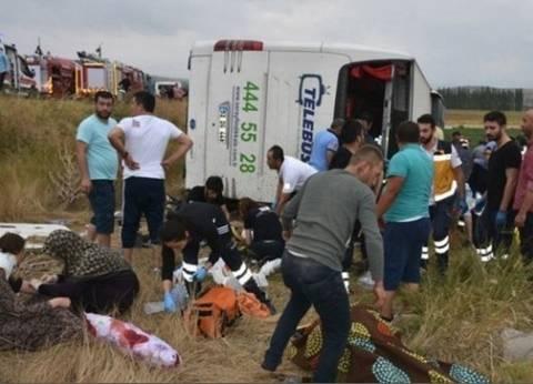 مقتل 5 وإصابة 36 راكبا إثر انقلاب حافلة في تركيا