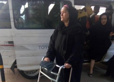 """رغم مرضها.. سهام تشارك في الاستفتاء: """"تحية لروح ابن جارتها الشهيد"""""""