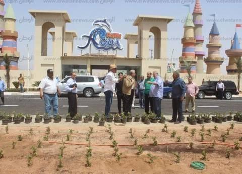 فودة يتفقد أكبر مدينة ألعاب مائية في الشرق الأوسط بشرم الشيخ