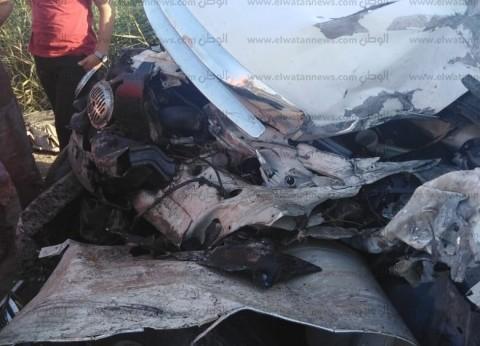 3 مصابين من أسرة واحدة في انقلاب سيارة ملاكي بالبحيرة