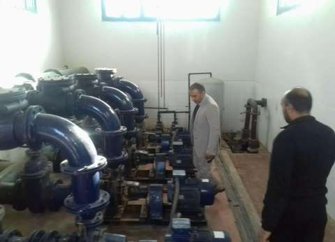 إجراء أعمال صيانة لمحطة مياه أبوقرقاص قبل انتهاء السدة الشتوية