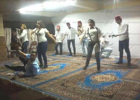 """بالصور  """"الداخلية """" تتبنى عرض مسرحية """"عاشق ترابك"""" بمعسكرات الأمن المركزي"""