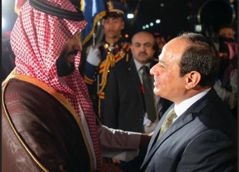 """متحدث """"الرئاسة"""" يعرض لقطات من لقاء السيسي وبن سلمان"""