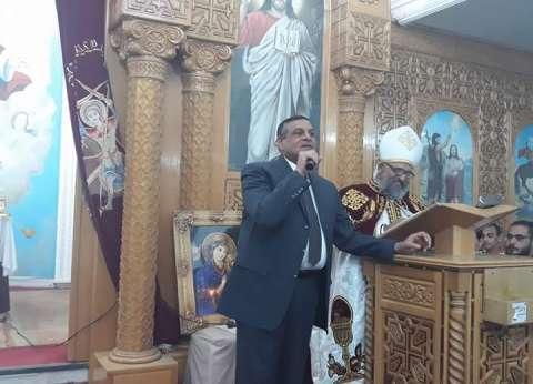 """رئيس مدينة سفاجا يهنئ الأقباط بالعيد: """"لن يفرقنا أحد"""""""