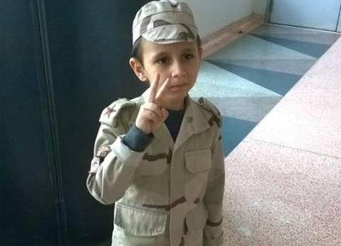 «طفل السيسى» بعد عام على مشهد «اليخت»: «نفسى أكون أصغر متطوع فى الجيش»