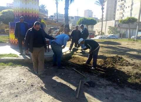 أعمال ترميم وتجميل بنطاق حي منتزه ثان بالإسكندرية