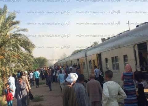 """تعطل حركة القطارات بسبب انفصال جرار عن عربات قطار """"السنطة – محلة روح"""""""