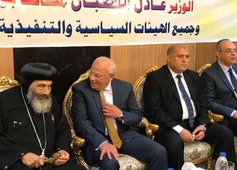 محافظ بورسعيد يهنئ الأنبا تادرس بالعيد