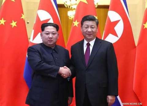 كيم جونج أون التقى الرئيس الصيني شي جينبينج في بكين