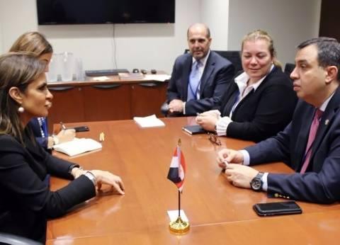 """""""نصر"""" تتفق مع نظيرها الأردني على التنسيق أمام مجموعة البنك الدولي"""