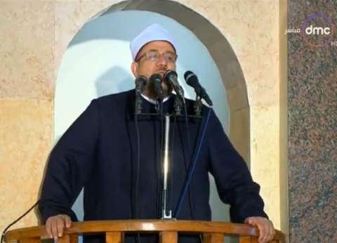 """وزير الأوقاف يلقي خطبة الجمعة بـ""""روضة الشهيد"""" في شمال سيناء"""