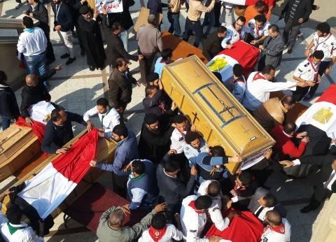 عاجل| وصول جثامين شهداء الكنيسة البطرسية إلى مقر الجنازة الرسمية