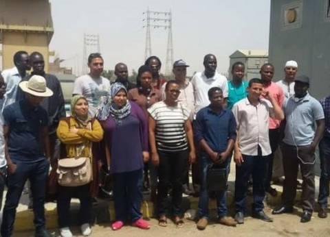 18 متدربا من دول حوض النيل يزورون قناطر إسنا ضمن برنامج الرحلة العلمية