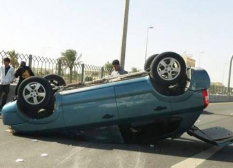 إصابة 6 في حادث انقلاب سيارة بالوادي الجديد