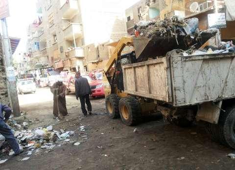 حملة نظافة وتجميل بمدينة المنشأة في سوهاج
