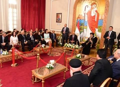 الكاتدرائية تستقبل المهنئين بـ«الترانيم».. و«البابا»: لقاءاتنا تزرع الأمل