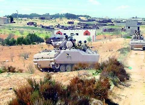 قوات إنفاذ القانون تقتل 6 عناصر تكفيرية وتلقى القبض على 18 مشتبهاً به فى شمال سيناء