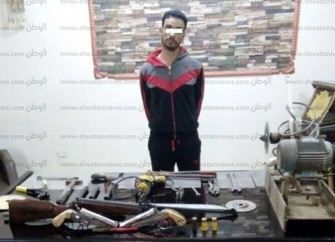 الأمن العام: ضبط عاطل يدير ورشة تصنيع أسلحة النارية بالشرقية