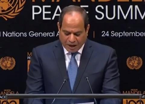 السيسي يلتقي سكرتير الأمم المتحدة وملك الأردن ويجري حوار مع قناة cbs