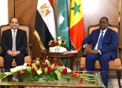 السيسي: اتفقنا على تكثيف التعاون مع السنغال في مجال بناء القدرات