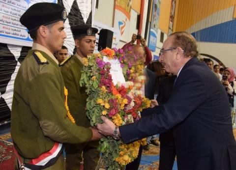 تكريم 83 من أسر شهداء الجيش والشرطة في احتفالية يوم الوفاء ببني سويف