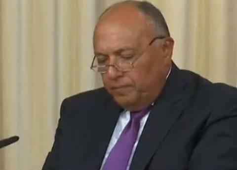عاجل| «شكري» يبحث مع رئيس المفوضية الإفريقية دعم مشيرة خطاب